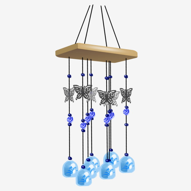 Butterfly Bell Wind Chime, Butterfly Wind Chimes, Hanging Ornaments