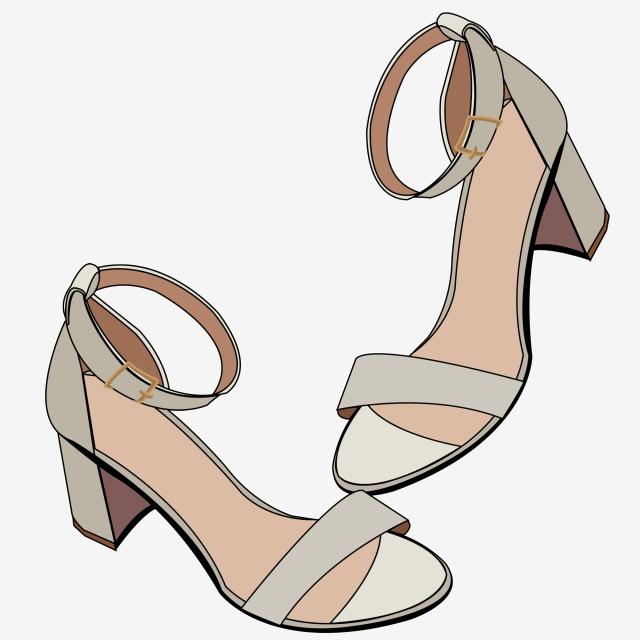 0f4d5f4f Zapatos De Verano Sandalias De Mujer Moda Ilustración De Zapatos De ...
