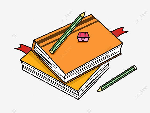 Livres D Etude Education Crayons De Papeterie Illustration