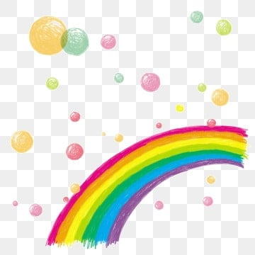 Bubble rainbow. Png vector psd and