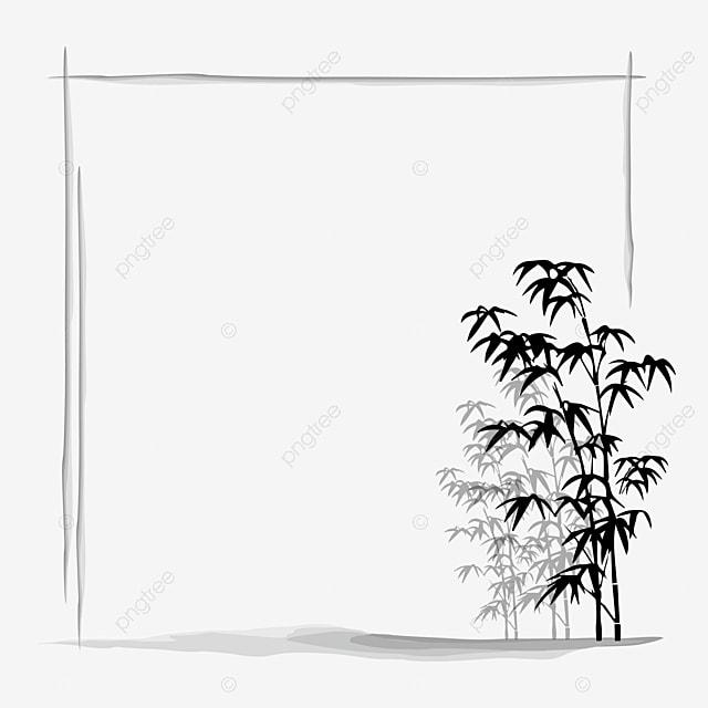 perbatasan bambu tinta yang indah tinta bingkai lukisan tinta png dan vektor dengan latar belakang transparan untuk unduh gratis tinta bingkai lukisan tinta png dan
