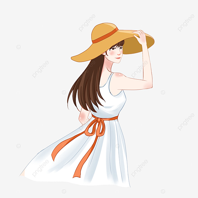 Gadis Bertopi Cantik Musim Panas Pakai Topi Png Transparan Gambar Clipart Dan File Psd Untuk Unduh Gratis