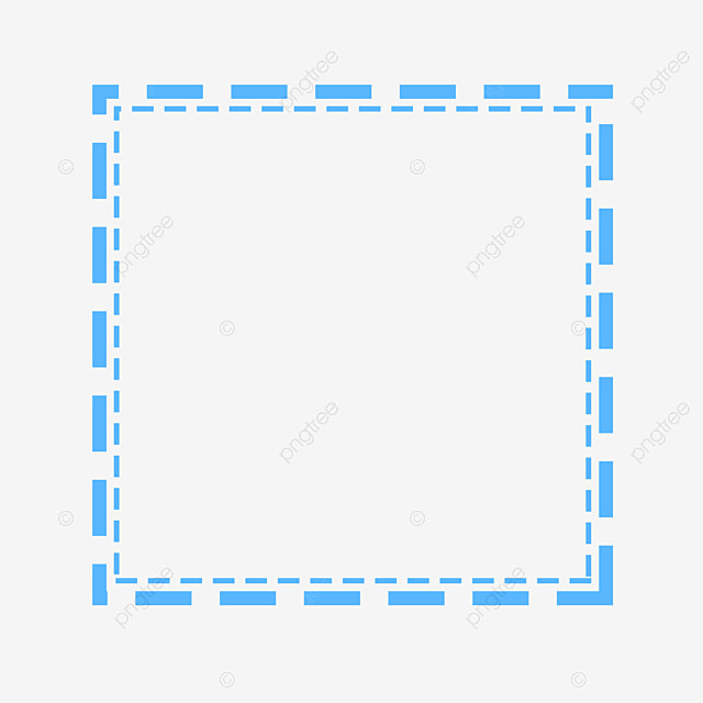 إطار سلكي منقط مربع المربع الأزرق إطار سلكي منقط Png وملف Psd للتحميل مجانا