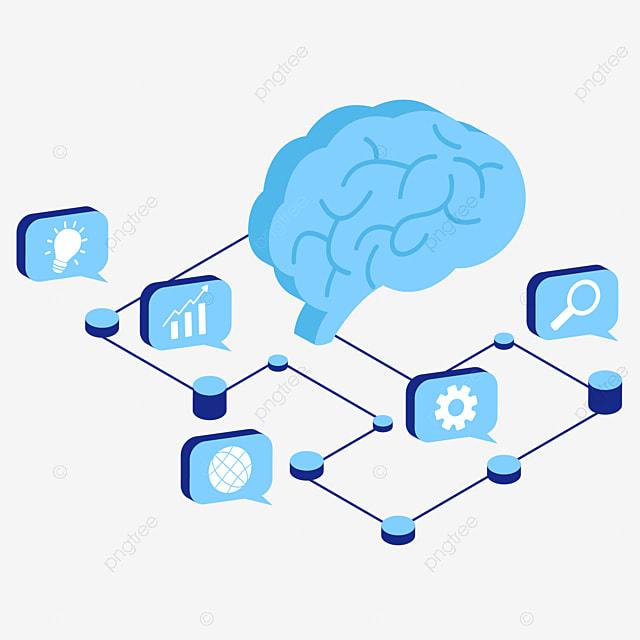 خريطة ذهنية ستيريو زرقاء خريطة ذهنية الدماغ مجسامي Png والمتجهات للتحميل مجانا