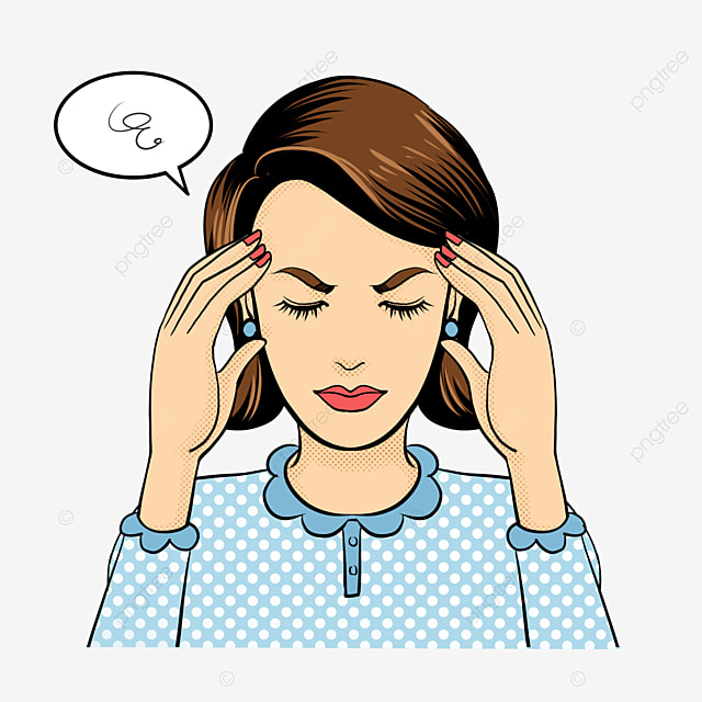Headache Headache Female Brain Pain Headache Migraine Head Pain Png Transparent Clipart Image And Psd File For Free Download