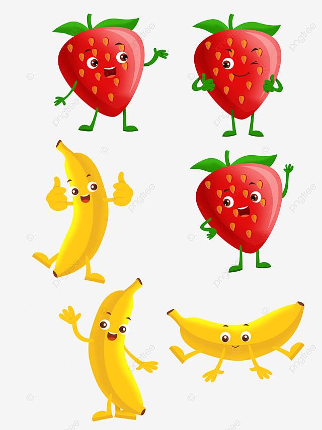 gambar gambar buah kartun kartun buah buahan kartun jagung kartun pisang png dan psd untuk muat turun percuma kartun buah buahan
