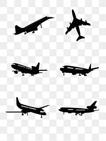 Airplane Silhouette Png Images Vector And Psd Files Free Download On Pngtree