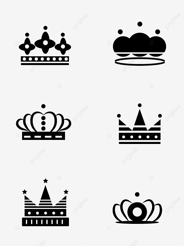 Cartoon Crown White – Seamless pattern cartoon crown on white stock vector.