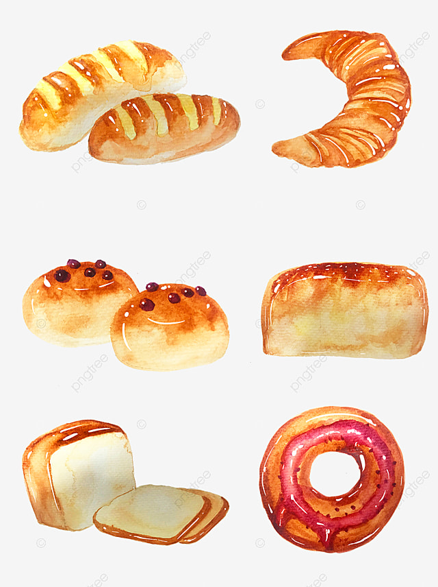 Bread Element Watercolor Bread Hand Painted Bread Food Material Bread Watercolor Watercolor Bread Png Transparent Clipart Image And Psd File For Free Download