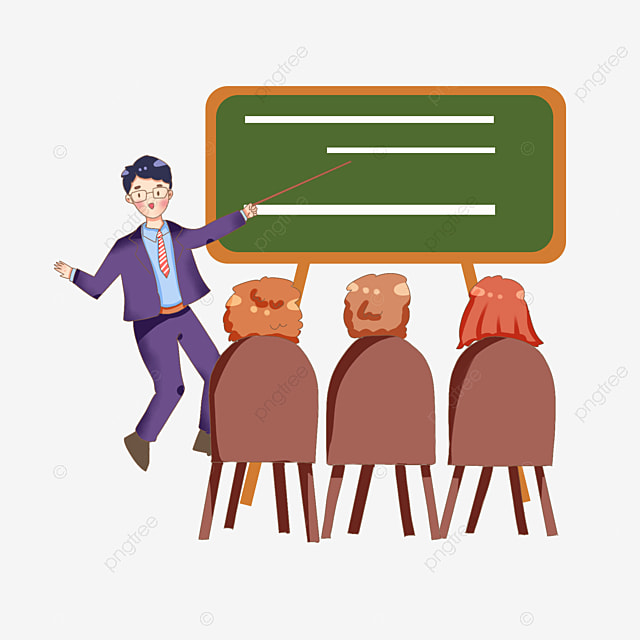Business Training Cartoon Cartoon Business Man Class Attend A Meeting Png Transparent Clipart Image And Psd File For Free Download