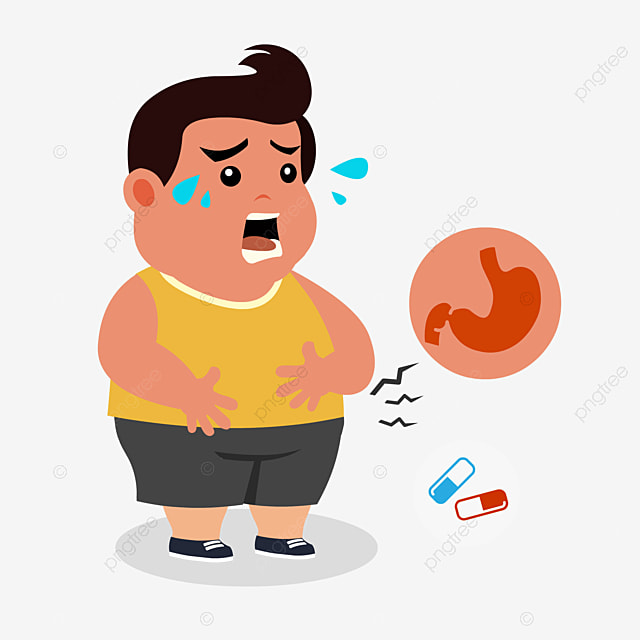 cartoon fat stomach pain element hand painted cartoon stomachache png and vector with transparent background for free download cartoon fat stomach pain element hand
