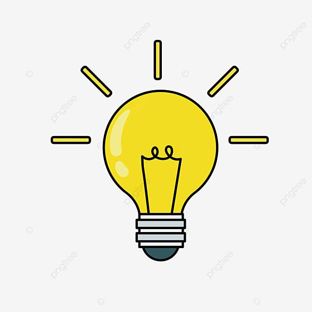 Bahan Gambar Lampu Animasi Gambar Bola Lampu Kartun Bohlam Clipart Datar Mg Animasi Png Dan Vektor Dengan Latar Belakang Transparan Untuk Unduh Gratis