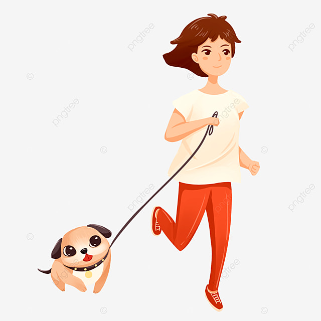 cartoon running dog walking woman vector material run running a dog walk the dog png transparent clipart image and psd file for free download cartoon running dog walking woman