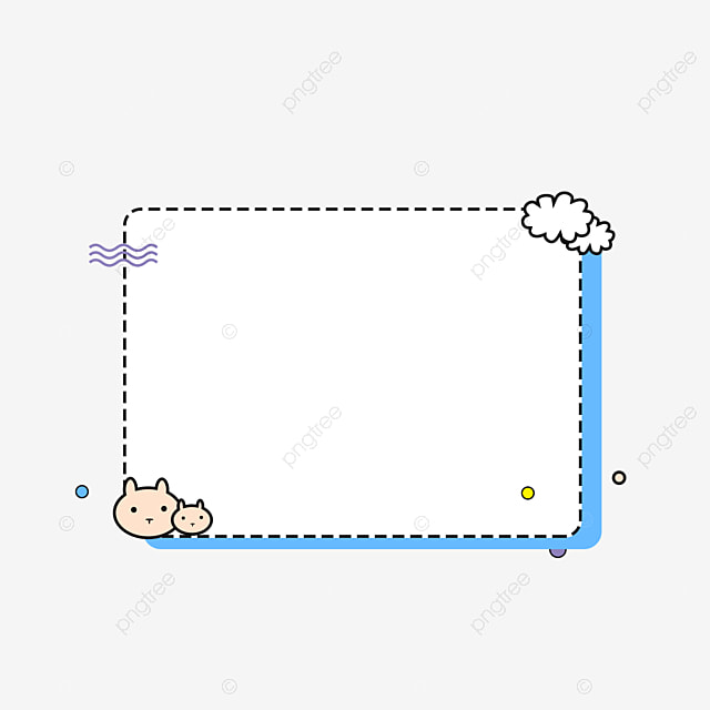 رسمت باليد الأزرق الحد الأدنى إطار منقط مربع متقطع أزرق مربع الكتابة Png وملف Psd للتحميل مجانا