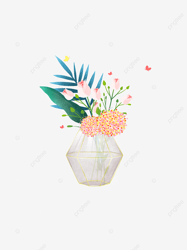 Hand Painted Illustration Beautiful Flower Vase Vase Clipart Hand Painted Illustration Png Transparent Clipart Image And Psd File For Free Download