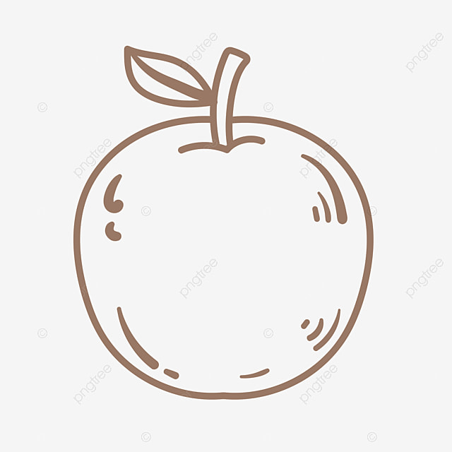 Line Cartoon Apple Stick Figure Png Apple Vegetable Fruit Fruit Png And Vector With Transparent Background For Free Download