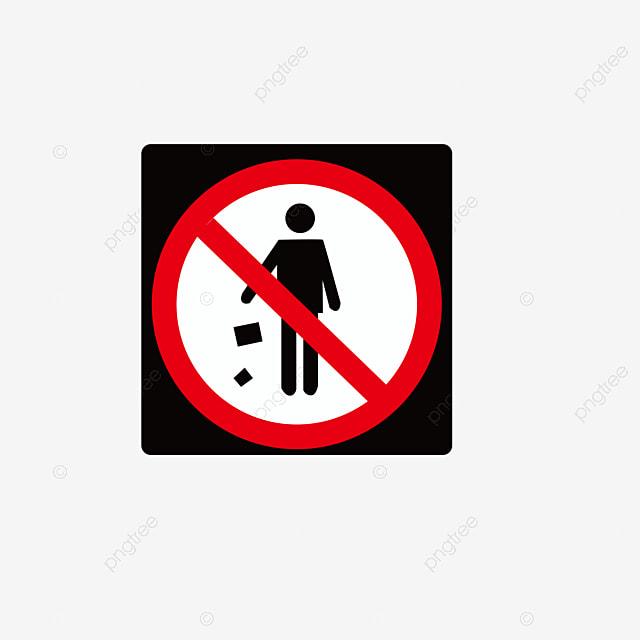 Tidak Ada Unduhan Sampah Sembarangan Dilarang Membuang Sampah Sembarangan Ikon Larangan Ui Datar Png Dan Vektor Dengan Latar Belakang Transparan Untuk Unduh Gratis