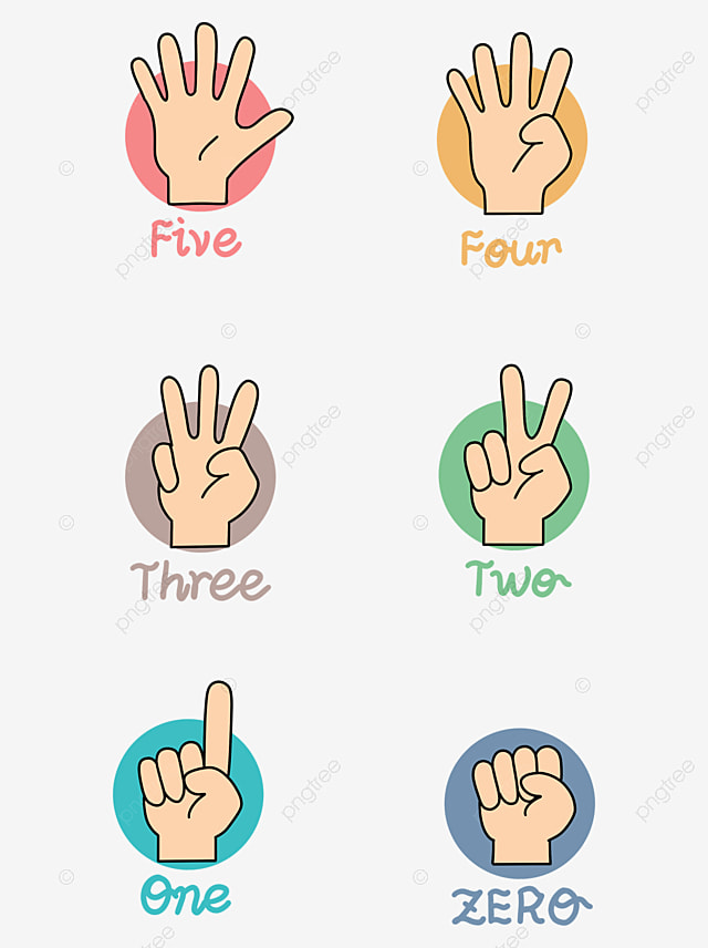 Universal Holiday Flesh Colored Cartoon Style Event Promotion Gesture Free Decoration Gesture One Two Png Transparent Clipart Image And Psd File For Free Download