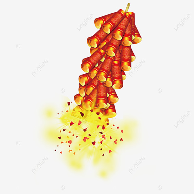 Exploding Red Firecracker Material Retro Chinese Style Red Png Transparent Clipart Image And Psd File For Free Download