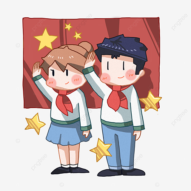Memberi Hormat Ilustrasi Pionir Muda Bintang Kuning Memberi Hormat Pada Para Perintis Muda Ilustrasi Kartun Png Transparan Gambar Clipart Dan File Psd Untuk Unduh Gratis