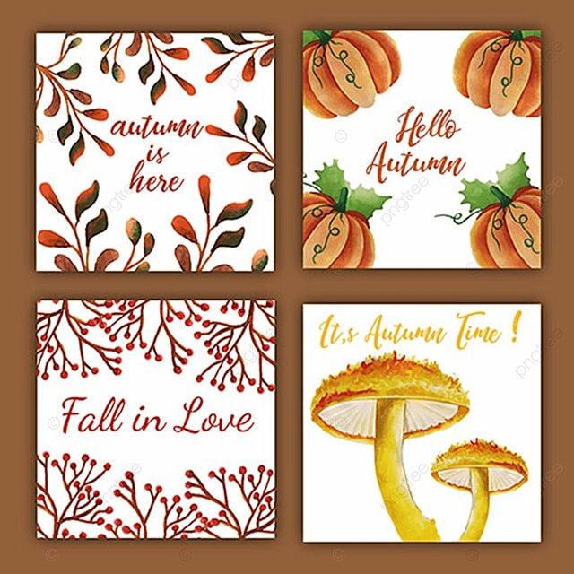 Autumn watercolor invitation card autumn watercolor color png and autumn watercolor invitation card autumn watercolor color png and vector stopboris Images