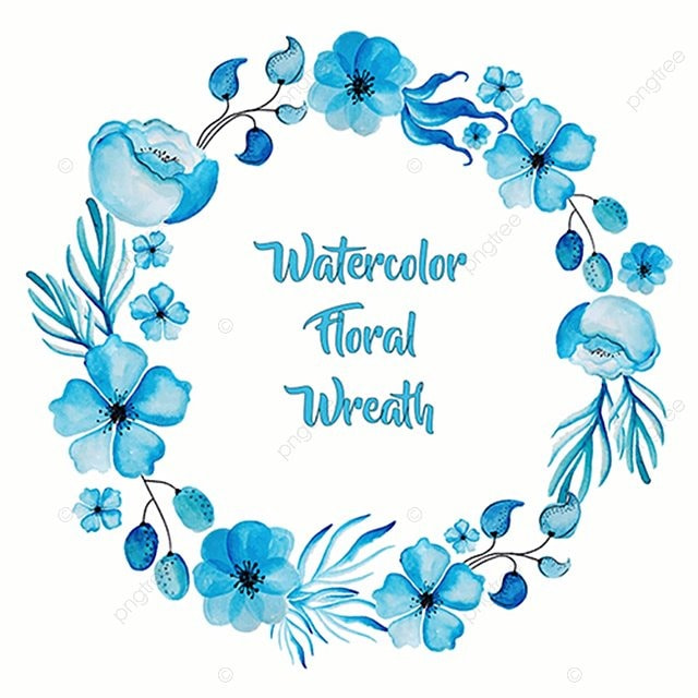 Watercolor Floral Wreath Floral Ornamnets Boho Png And Vector For