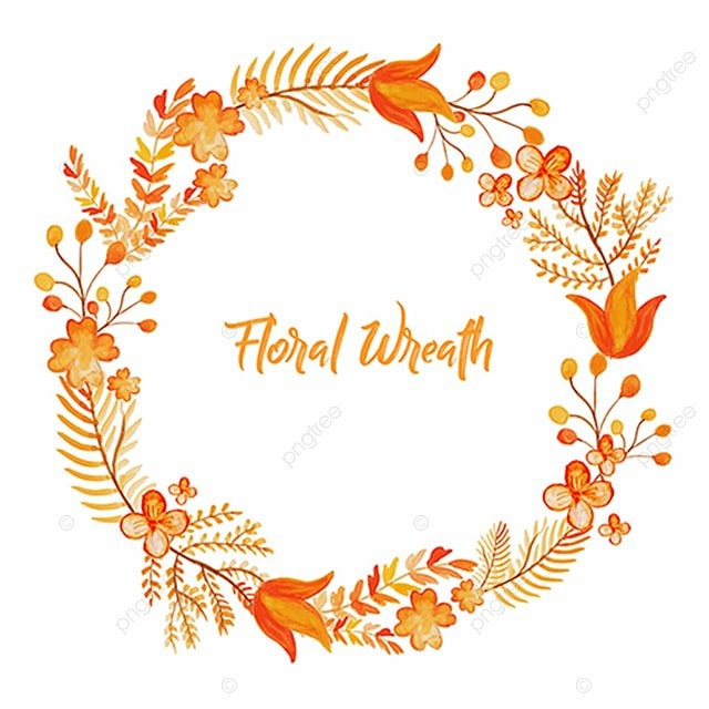 Watercolor Floral Wreath Floral Ornamnets Boho Png And