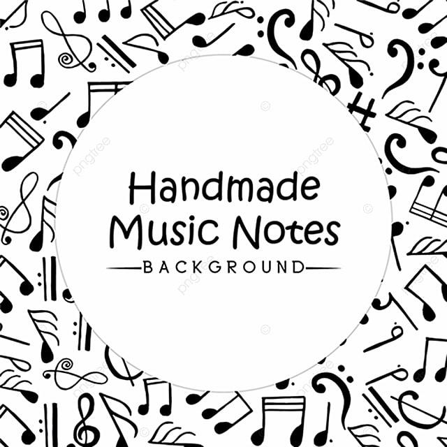 Hand drawn music notes background background handmade backdrop hand drawn music notes background background handmade backdrop free png and vector voltagebd Images