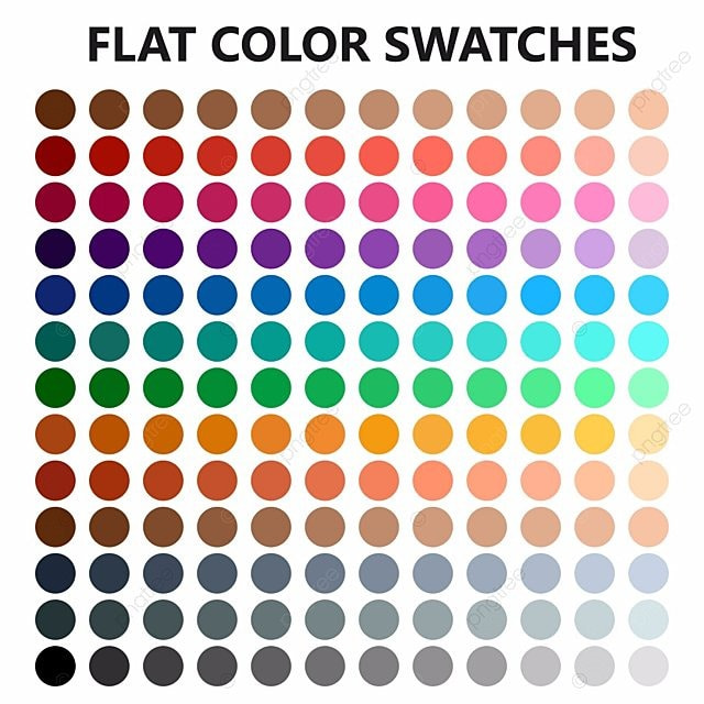 Flat Color Swatches Vector Eps10 Color Swatch Palette