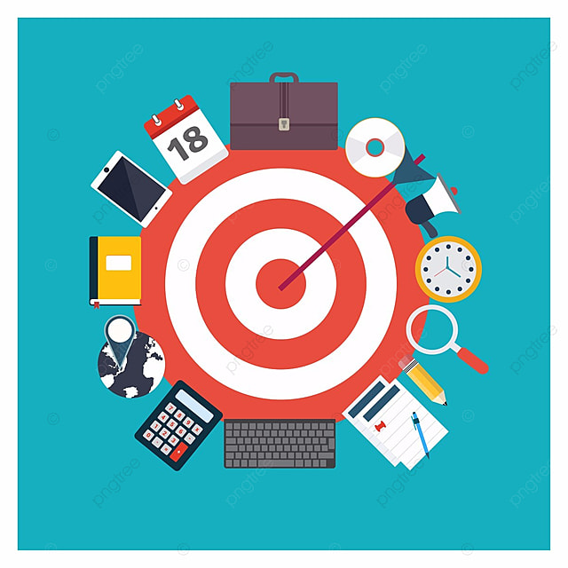 Target with business icons infographics icon business for Meine wohnung click design download