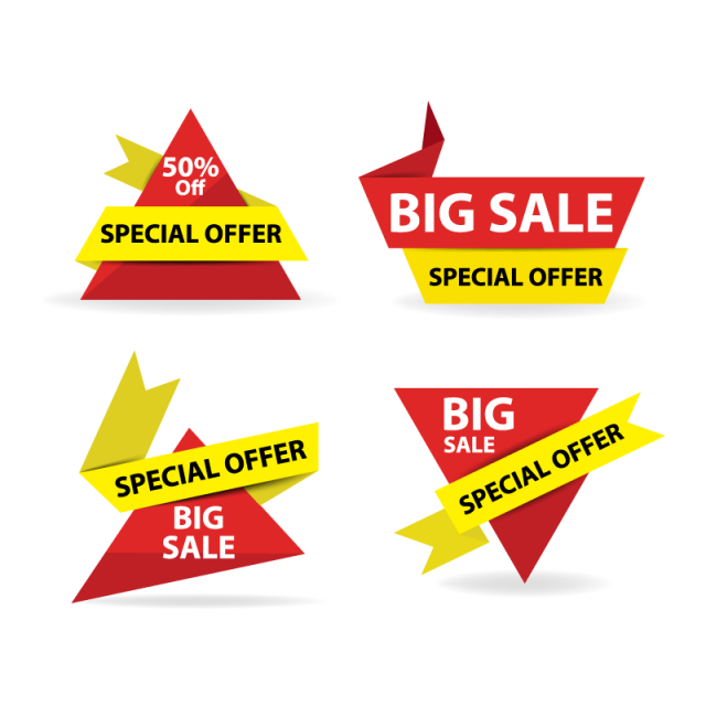 Sale Banner Offer Vector Special Discount Promotion