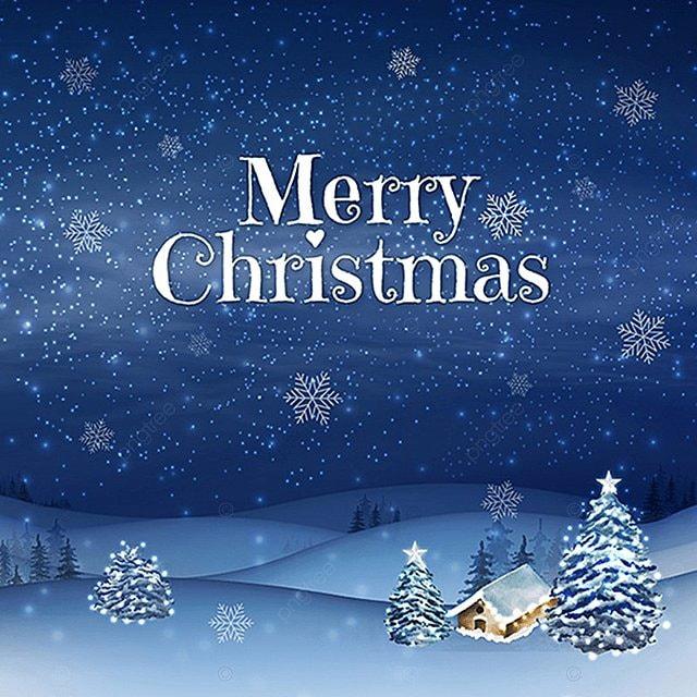 Beautiful Dark Blue Merry Christmas Vector Illustration, Christmas ...