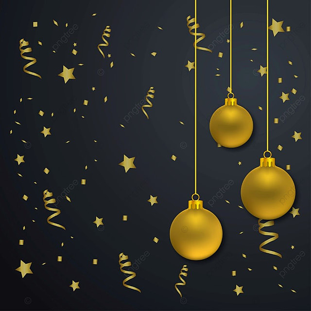 Christmas balls with dark background vector, Merry, Card, Text PNG and Vector