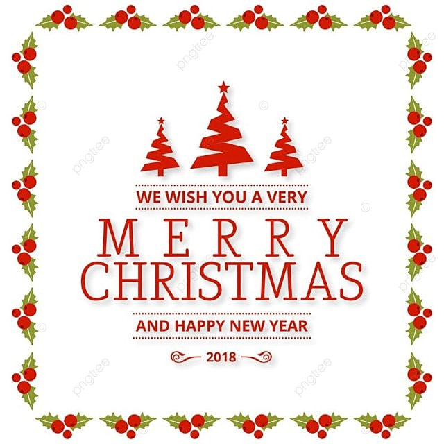 Merry christmas with frame and red trees merry card text png and merry christmas with frame and red trees merry card text png and vector m4hsunfo