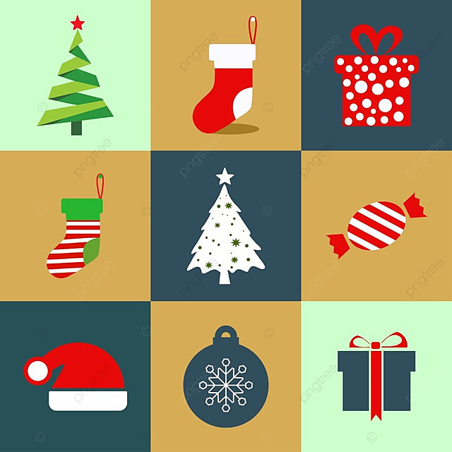 Christmas Icons With Different Backgrounds Vector Merry Card Text PNG And Copyright Complaint Download The Free Graphics To Design