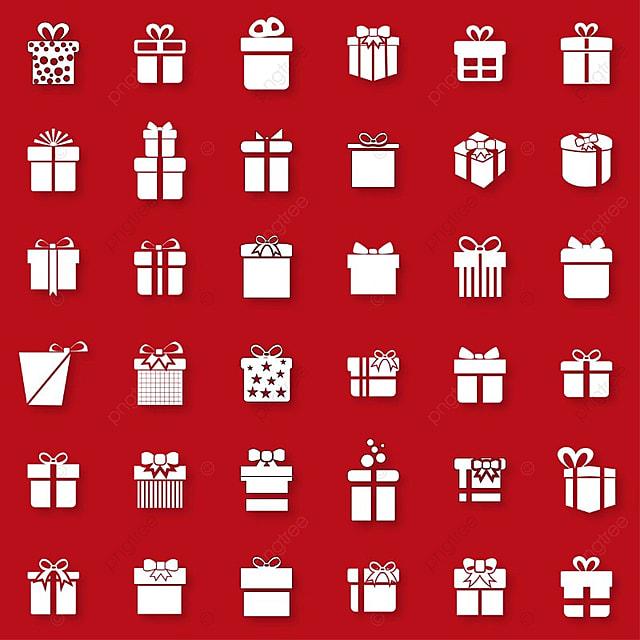 Iconos De Navidad Sobre Fondo Rojo, Navidad, Tarjeta, Azul PNG y ...