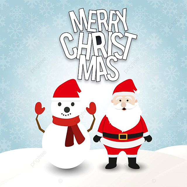 Navidad Con Papa Noel Y Muñeco De Nieve En Copos De Nieve Patrón ...