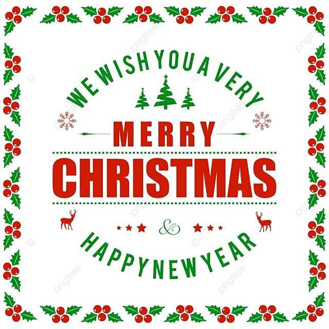 Merry Christmas With Frame Vector, Christmas Vector, Frame Vector ...