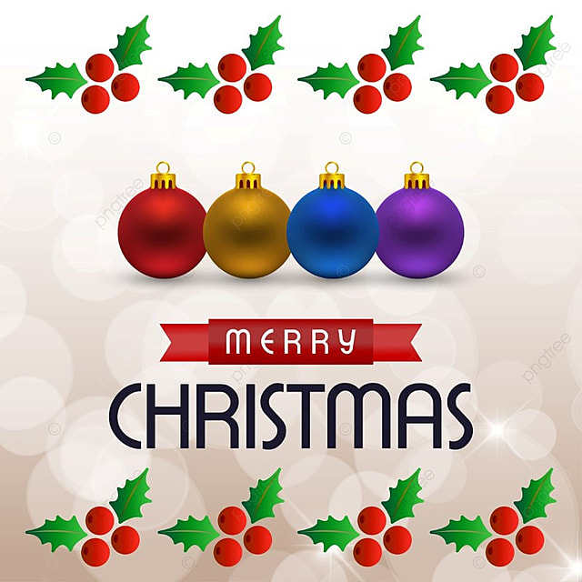 Christmas Card With Balls Vector, Background, Vector, Xmas PNG And Vector