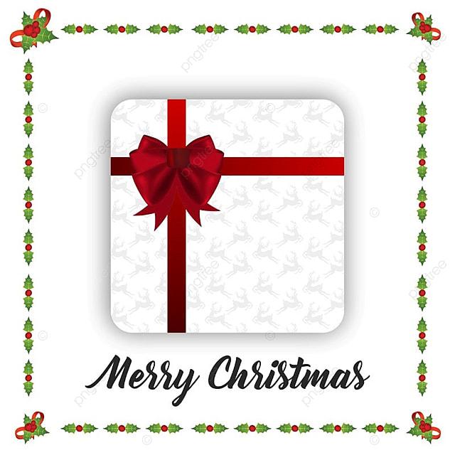 Christmas Card With Frame, Christmas Vector, Card Vector, Frame ...