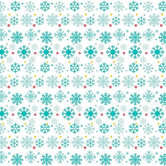 Christmas Snowflake Pattern On White Background Merry Vector Png