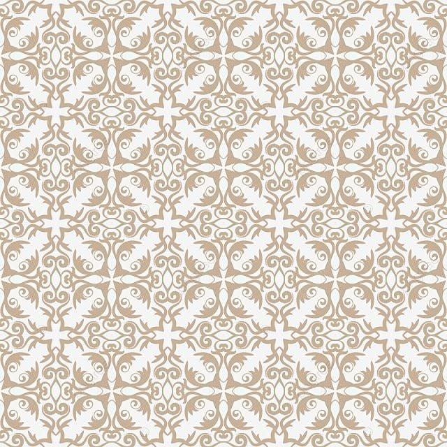 Pattern Wallpaper Baroque Damask Seamless Vector