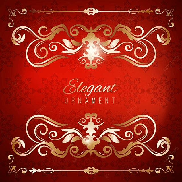Vintage Invitation Card Red Luxury Background With Golden Frame