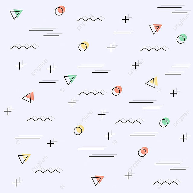 Memphis Pattern Background Illustration Style Hipster Png And