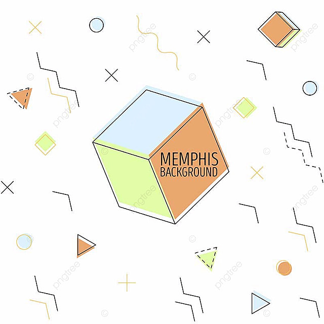 Memphis Background Poster Poster Vector Illustration Style Png
