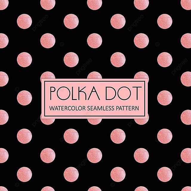 royal pink and white watercolor polka dot background