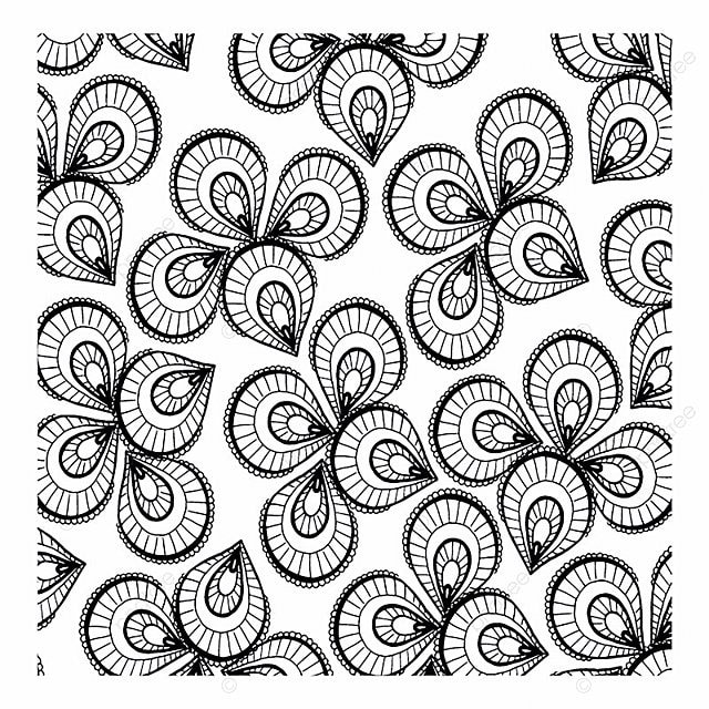 Floral Simple Black And White Patterns Backgrounds Floral Vector