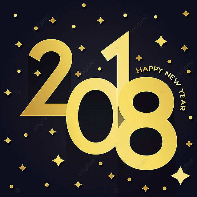 golden stars vector new year 2018 background new year 2018 png and vector