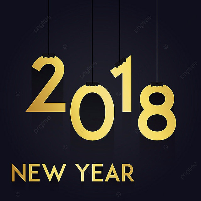 hanging golden vector new year 2018 background new vector new year png and
