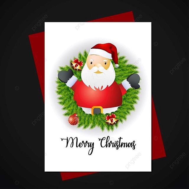 carte pere noel 2018 Carte De Noël Avec Le Père Noël 2018 épouse Joyeux PNG et vecteur  carte pere noel 2018